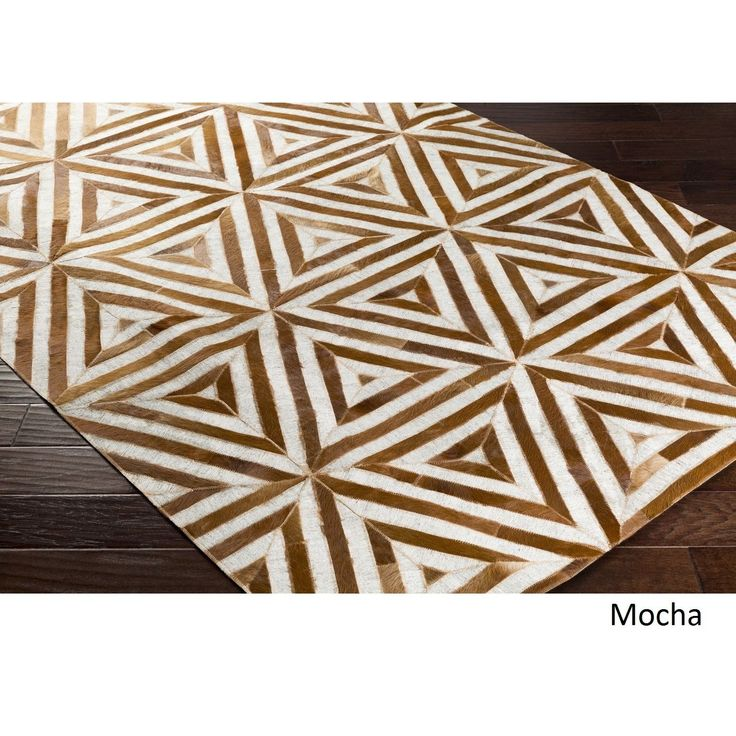 Hand-Crafted Estafeta Viscose/Leather Rug (5' x 7'6) (