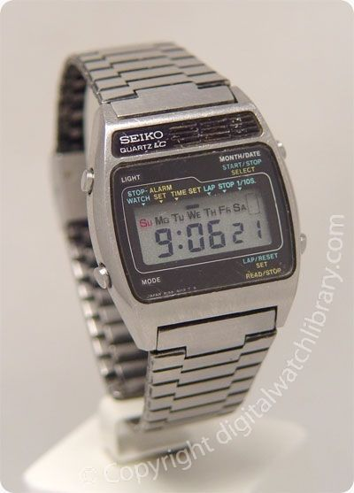 SEIKO - A159-4019 - a-series - Vintage Digital Watch - Shop at Stylizio for luxury designer handbags, leather purses and wallets. Women's and Men's watches, jewelry, sunglasses and other accessories. Fine gold and 925 sterling silver rings, necklaces, earrings. Gift ideas for women and men!