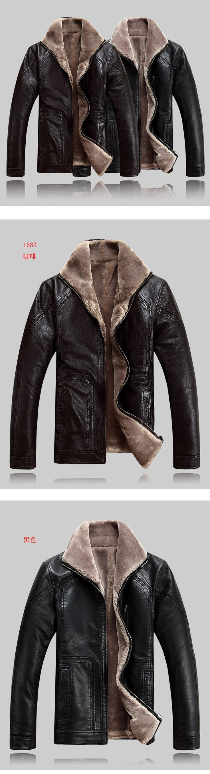 Autumn and winter mens faux leather jacket men faux fur jackets man plus size men leisure short coats size M-4XL free shipping Free Shipping Get yours now at : Oneshopexpress.com
