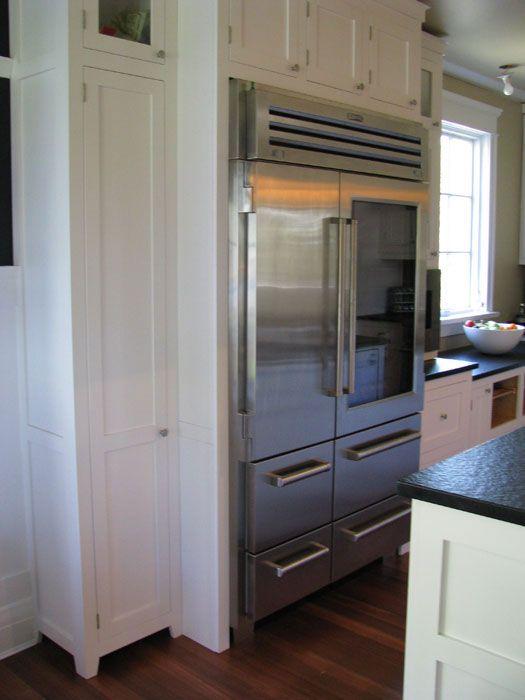 VIKING refrigerator. heaven., extra length hidden by box around fridge
