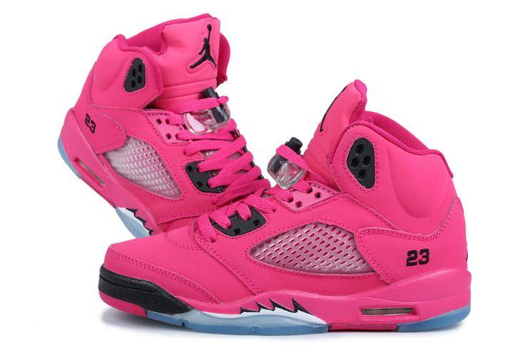Hot Pink jordans | Super A quality. 2013 new arrivals for these women Jordan 5 shoes on ...