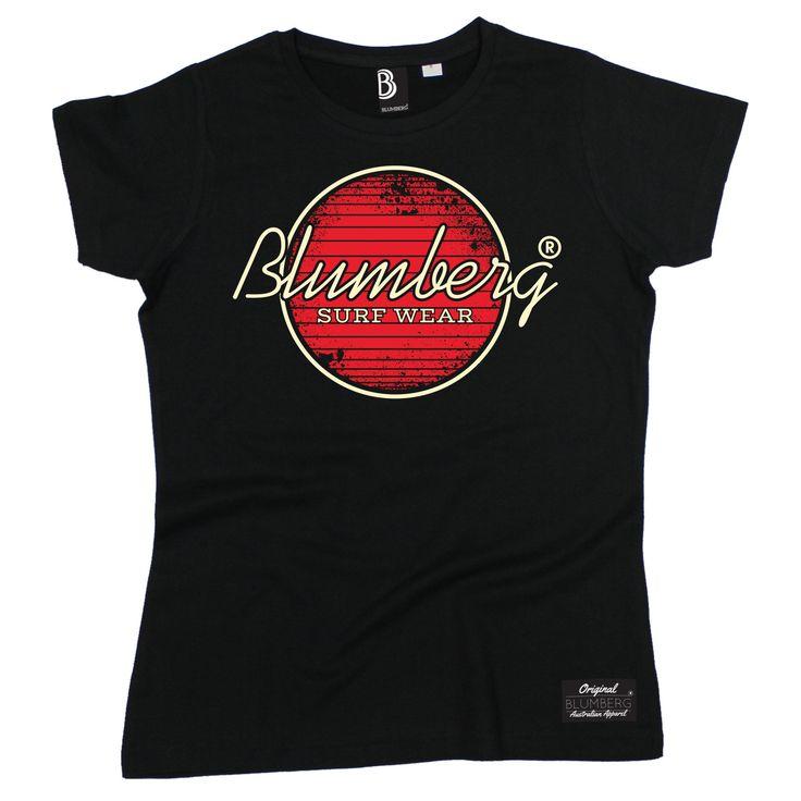 Blumberg Australia Women's Surf Wear Red Design Premium T-Shirt