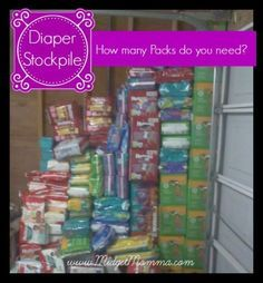 Diaper Stockpile, how many diapers do you need? Use this guide to help you when stocking up on diapers and wipes!