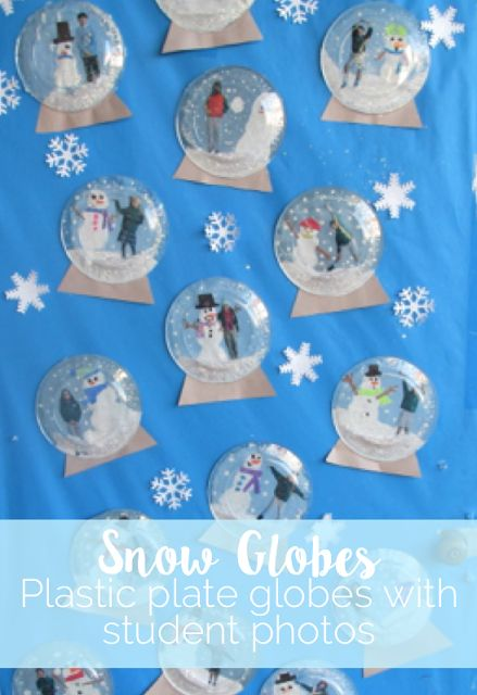 Plastic Plate Snow Globes - perfect craft for January!