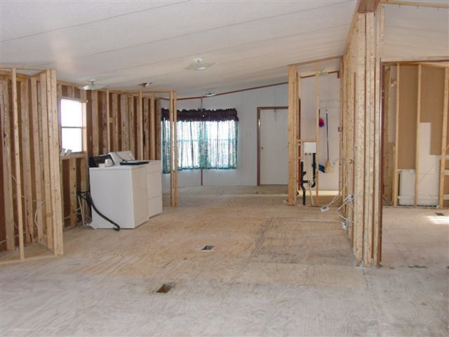 removing walls in a manufactured house