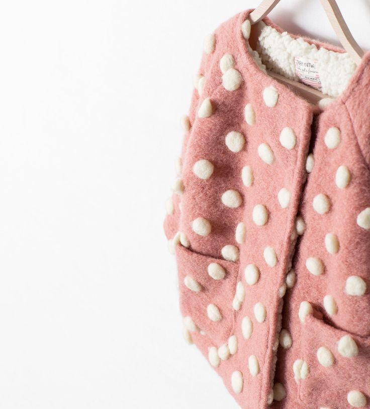 BUBBLES MIXED FABRIC COAT from Zara