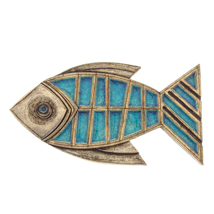 Ceramic  Glass Wall Sculpture Ornament - Fish