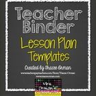 Teacher Binder Lesson Plan Templates You Can Customize!  Completely editable and works with ANY Teacher Binder (or build your own!)