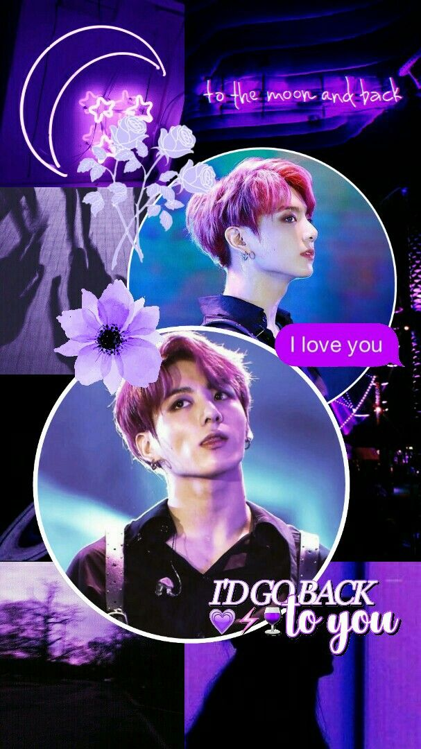 Jeon Jungkook Bts Edit Aesthetic Lockscreen Wallpaper Purple Gambar Fotografi