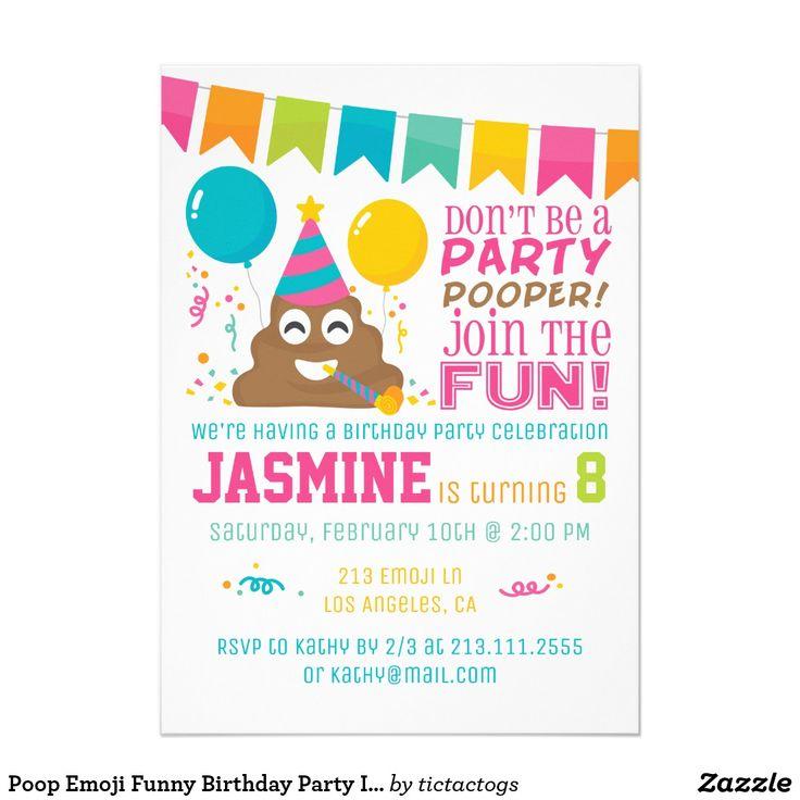 Best 25+ Funny Birthday Invitations Ideas On Pinterest