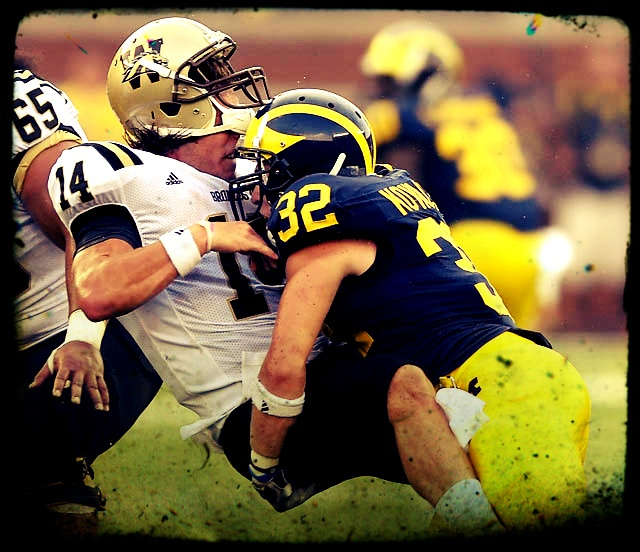 #32 - Jordan Kovacs. Former walk-on DB now the leader of the Michigan Secondary.