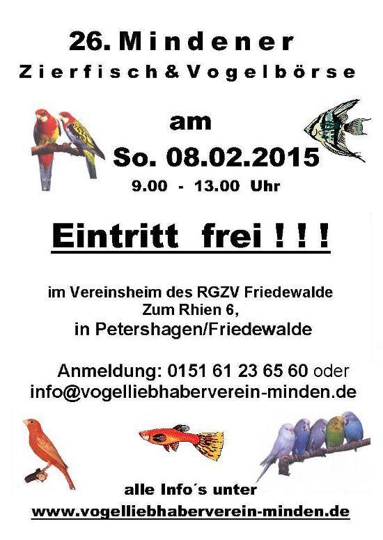 Zierfisch & Vogelbörse @ <b>Friedewalde</b>