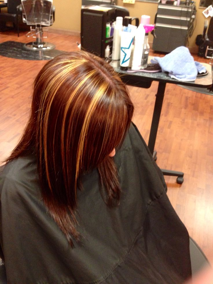 Redish Brown With Caramel Highlight Hair Amp Make Up