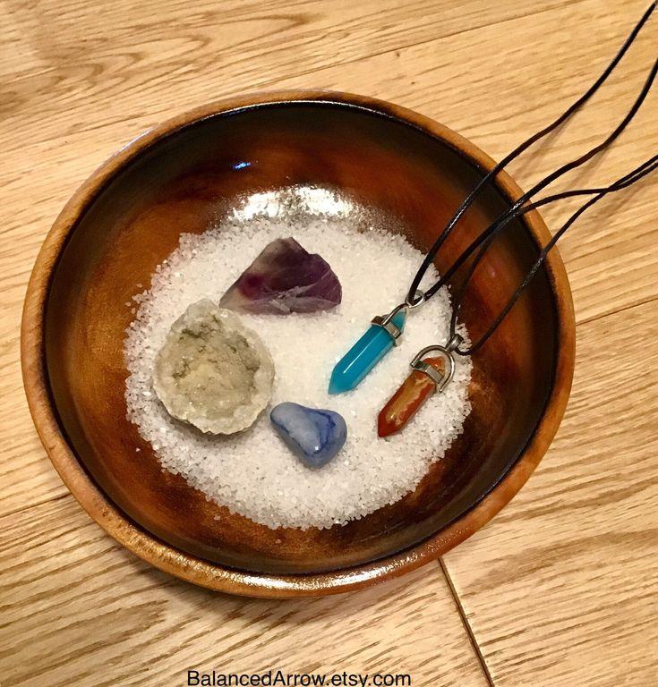 Crystal cleansing bowl crystal recharging bowl crystal