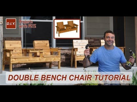 Build a Double Chair Bench with a Cooler -