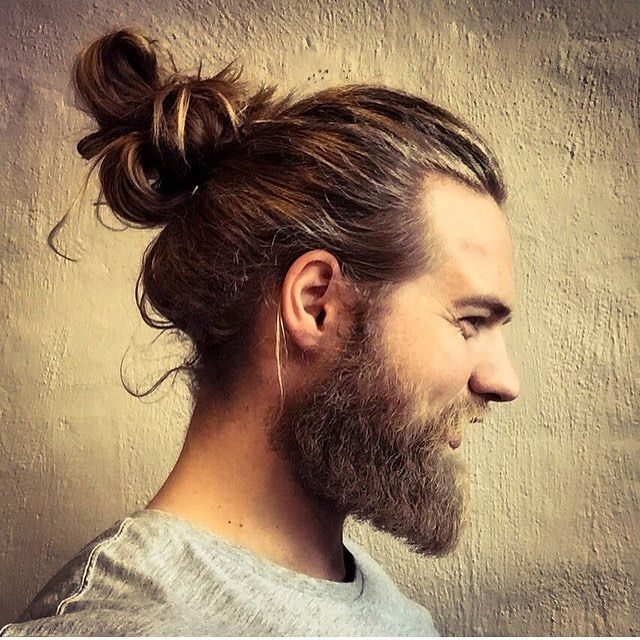 Loving the beard and the man bun!