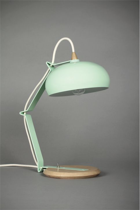 Rhoda TBS vert céladon / blanc- Lampe petit modèle - – Lampari
