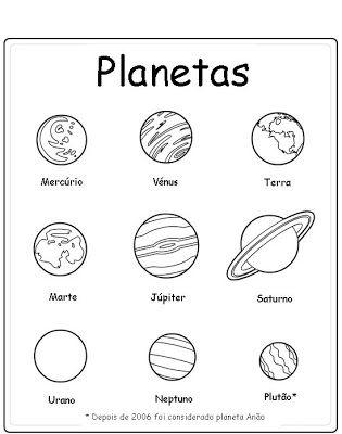 Baú da Web: Planetas desenhos para colorir