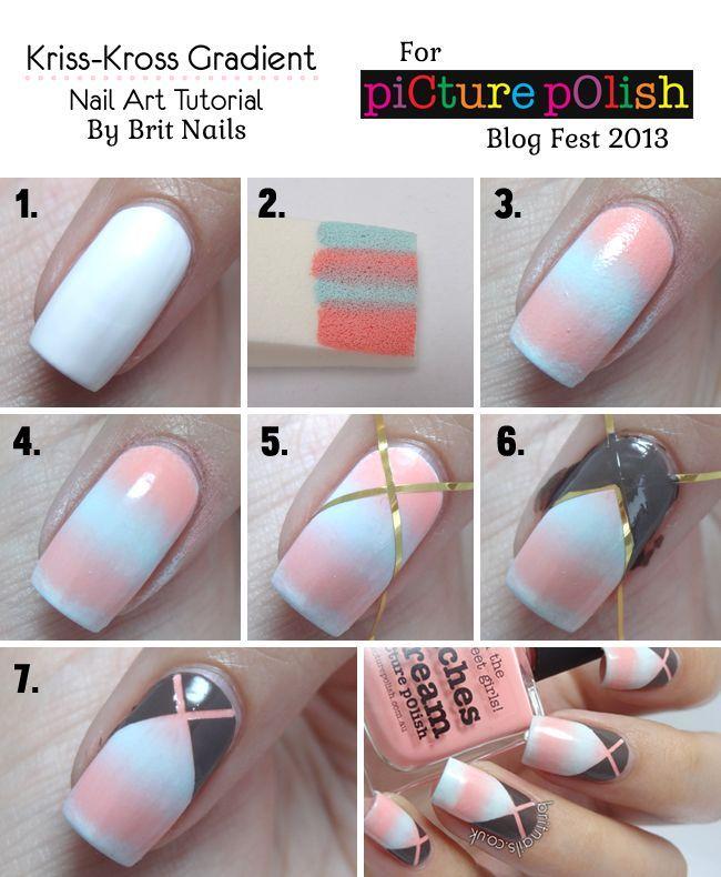 DIY Nail Art | Step-By-Step Tutorial | Nail Art How-To: Brit Nails ...
