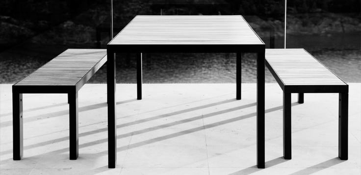 Garden table and garden bench, Röshults