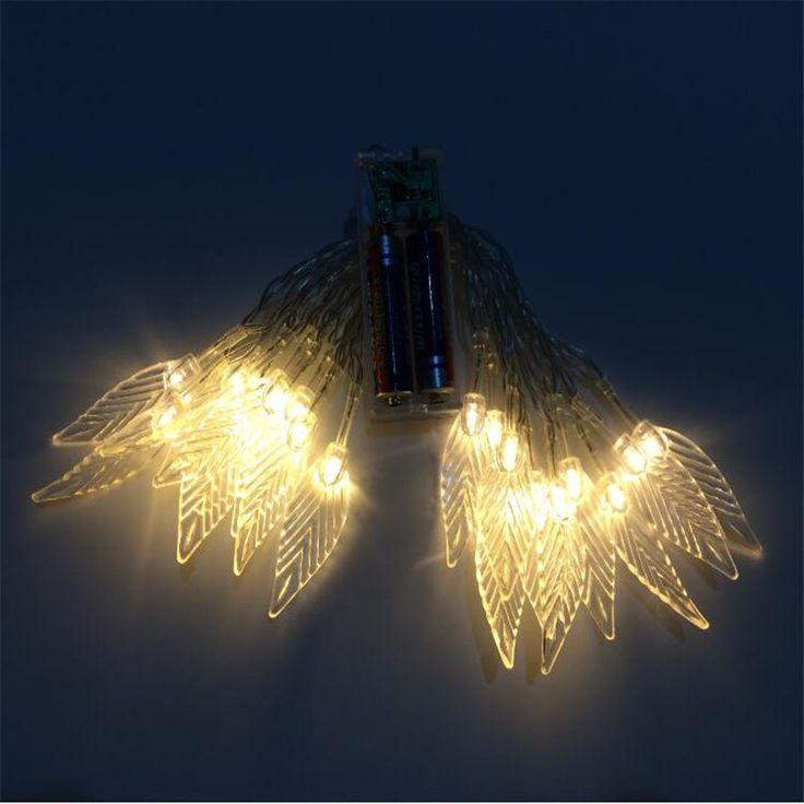 2 * АА Батареи 24 светодиодов строка огни листьев скелет цветы романтический святого валентина подарок, дома, партии, спальни, терраса, свадебный деко
