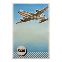 Het Koninklijke Nederlandse Poster van vintage KLM