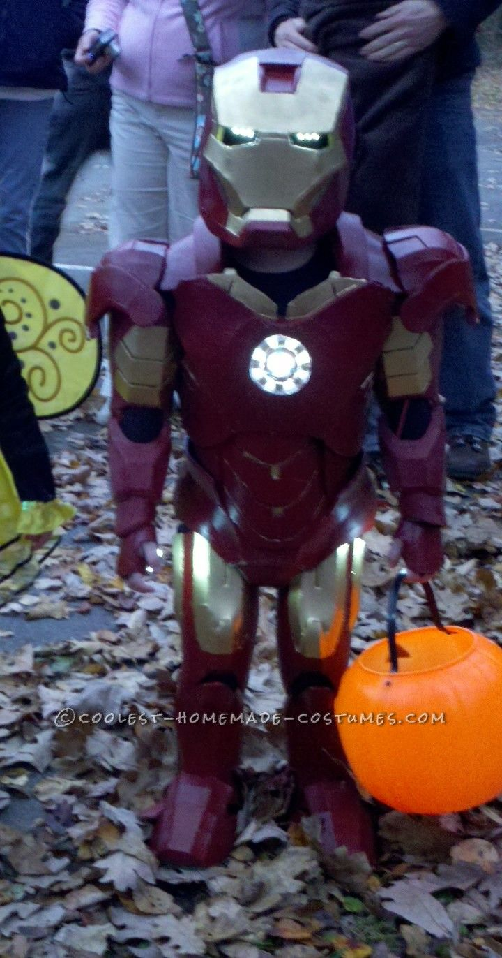 Coolest Homemade Iron Man Toddler Halloween Costume... This website is the Pinterest of costumes