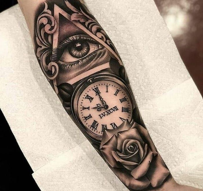 1001 Ideas For A Simple But Meaningful Roman Numeral Tattoo In 2020 Watch Tattoos Pocket Watch Tattoos Tattoos