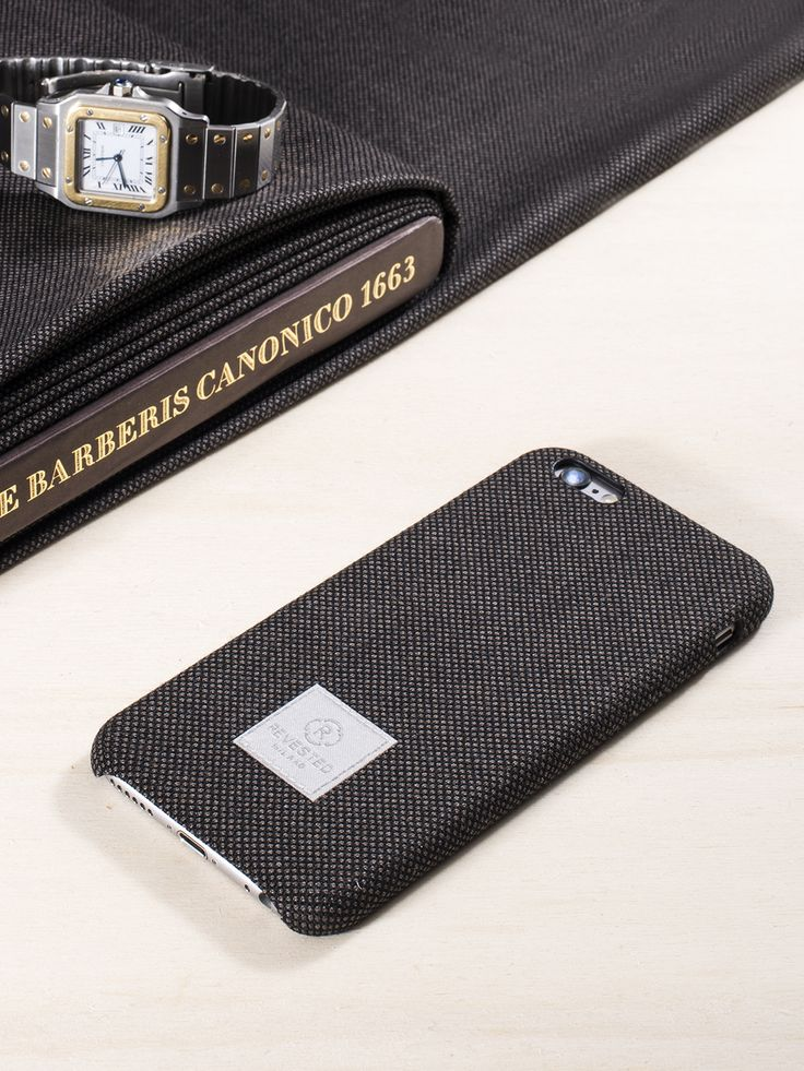 Revested iPhone 6/6s Case - Bird's Eye.  Made with the finest fabrics for tailor made suits, Revested cases dress your iPhone in classic style and sophistication. The iconic fabric is 100% Made in Italy and it's crafted to perfectly fit every smartphone detail for a superior style.