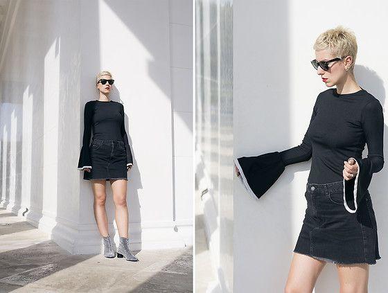 Get this look: http://lb.nu/look/8436133  More looks by Borjana R.: http://lb.nu/beeswonderland  Items in this look:  Zara Top, Bershka Skirt, Zara Shoes, Ray Ban Sunglasses   #chic #minimal #street #streetstyle #ootd #beeswonderland #fashionblogger #zara #trends