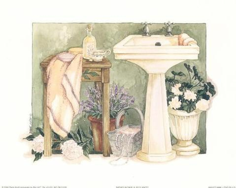 bathroom painting by diane knott