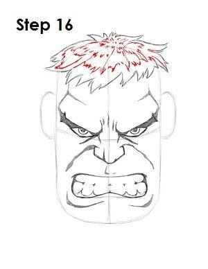 Draw the Hulk Step 16