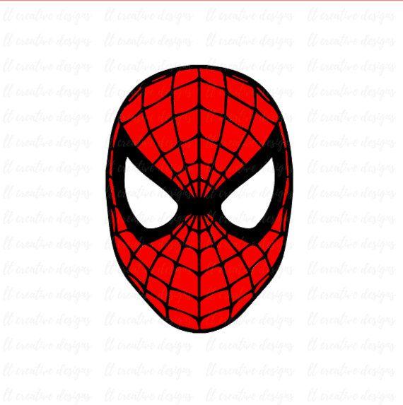 Spiderman SVG, Spiderman Face SVG, Silhouette Cut Files ...