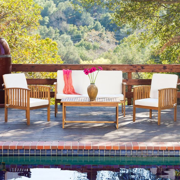 Overstock   Christopher Knight Home Carolina Outdoor Acacia Sofa Set    Overstock™ Shopping   Big Discounts On Christopher Knight Home Sofas, Chairs  U0026 ... Part 74