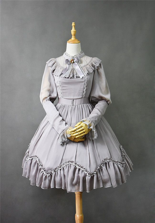 #LolitaUpdate: [-♡-A Room with a View-♡-] Lolita Long Sleeves OP Dress