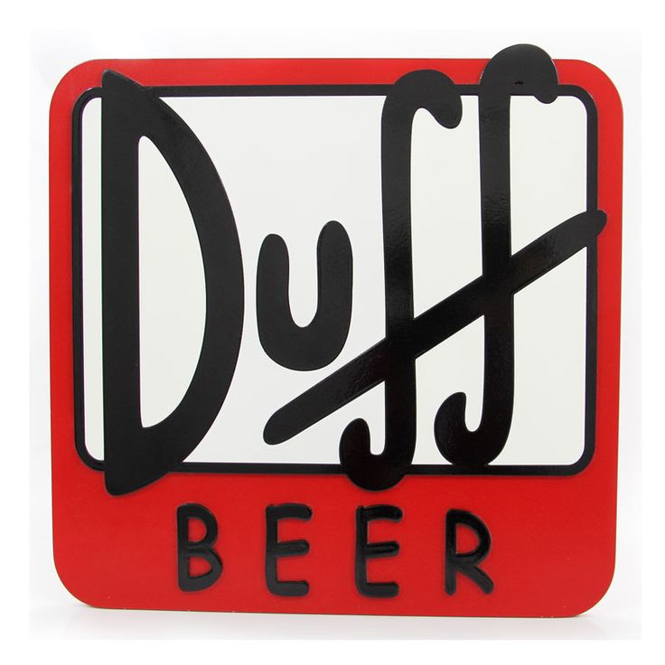 DUFF BEER – PLACA DECORATIVA MDF