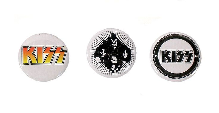 Kiss Band - Set of 3 Pin Badges 2.5cm 1inch NEW Pins Badge. #Rockbands #Pins #isradealcom