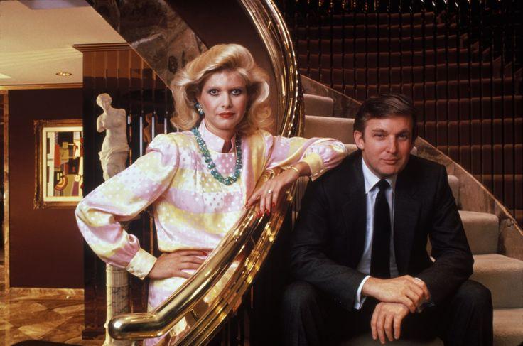Дональд Трамп со своей первой женой Иваной