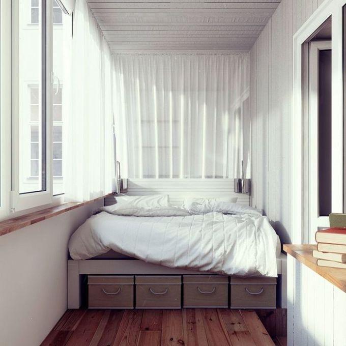 Лоджия в качестве спальни