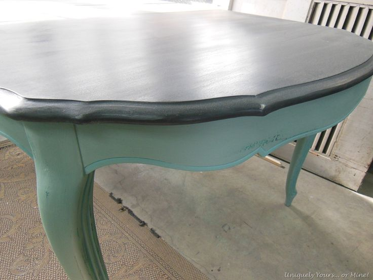 painted dining table | Uniquely Yours... or Mine!