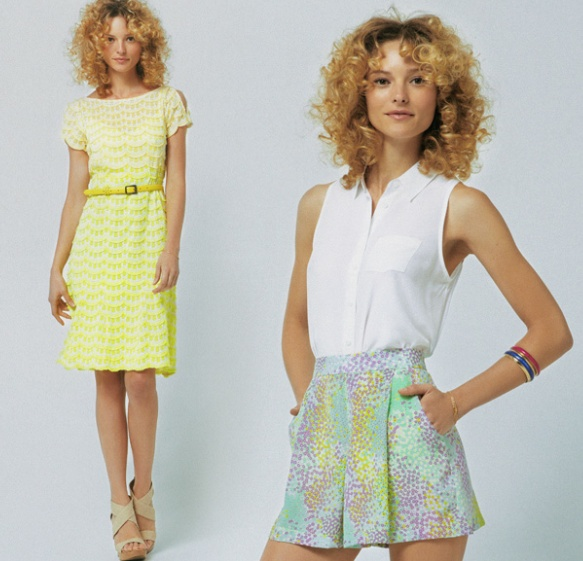 """Much like myself. Shopbop loves a good """"curlycued"""" haired look."""