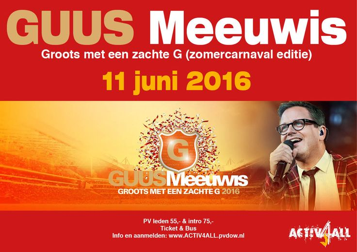 GUUS MEEUWIS GROOTS MET EEN ZACHTE G 2016