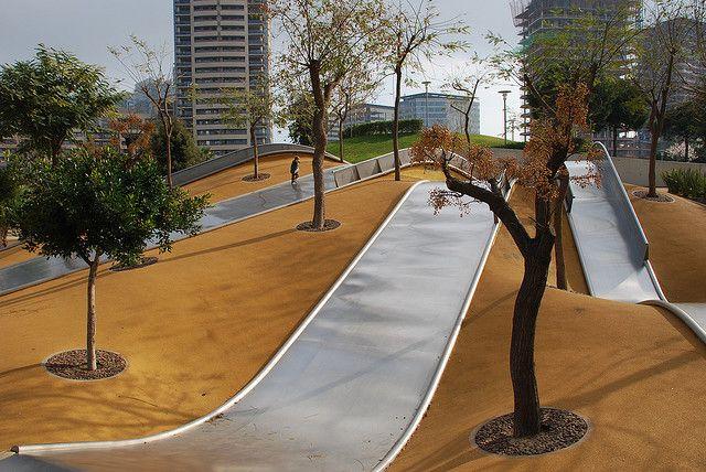 Parc Diagonal Mar - Architect: Enric Miralles/ Benedetta Tagliabue (Poblenou)