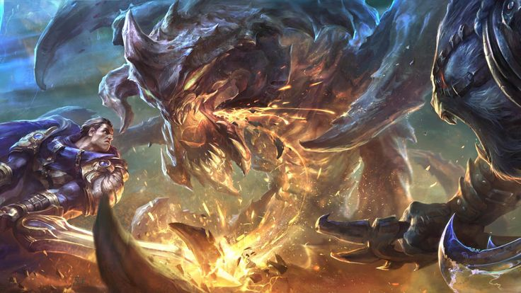 Garen Rengar Vs Baron Fighting League Of Legends