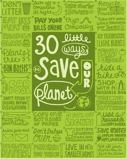 Andrea Pippins's AIGA Campaign to Sustain Poster #save #planet
