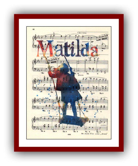 Matilda Poster Watercolor School Musical Poster Wall Art Print