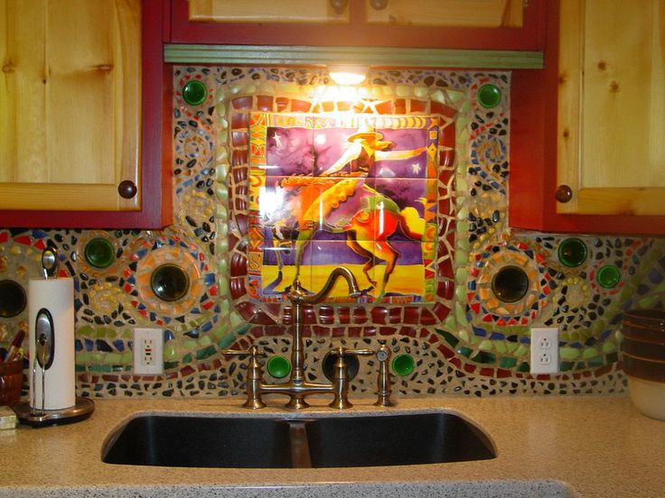 Mosaic Kitchen backsplash