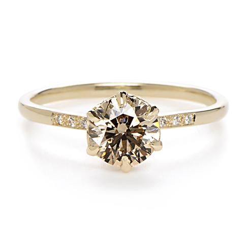 "Anna Sheffield ""Hazeline"" Champagne Diamond Ring $7200 Greenwich jewelers wowzaaa"