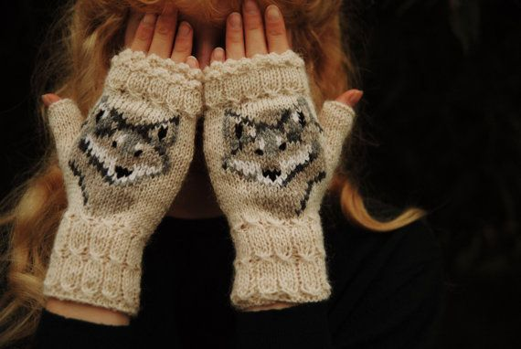 Mitts Wolf by FoxyChest on Etsy #forest #wood #wild #travel #handmade #cabin #wolf #animal #fashion #girl #hands #handmade #knitting #craft # mittens #beauty #cute #kawaii # gentle #nature #style