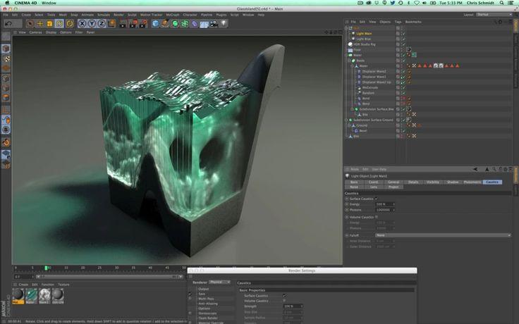 Creating Glass Sculptures In Cinema 4D Part 3